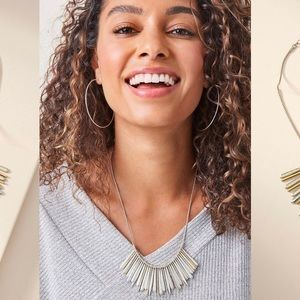 Essential Fringe Necklace In Mixed Metal